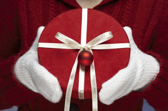 Circular Wrapped Gift