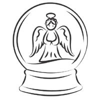 snow angel coloring page - angel snow globe coloring pages surfnetkids