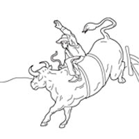 bullriding coloring pages - photo#25