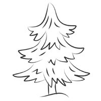 Evergreen Tree Coloring Pages