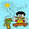 Thumbnail image for Kid Corn Eating Coloring