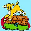 Thumbnail image for Goat Jumping a Fence Coloring