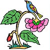 Thumbnail image for Sparrow on a Flower Coloring