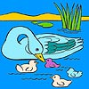 Thumbnail image for Mother Duck and Ducklings Coloring
