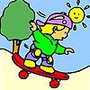 Thumbnail image for Kid on a Skateboard Coloring