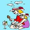 Thumbnail image for Mother and Daughter Coloring
