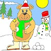Thumbnail image for Snowman and Big Bear Coloring
