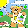Thumbnail image for Artist Bear Coloring