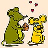 Thumbnail image for Valentine Mice Coloring