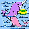 Two Cute Dolphins Coloring