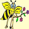 Thumbnail image for Cute Bee and Flower Coloring