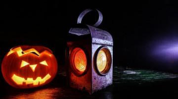 Paper Mache Pumpkin Lantern