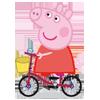 Piggy On Bike Coloring