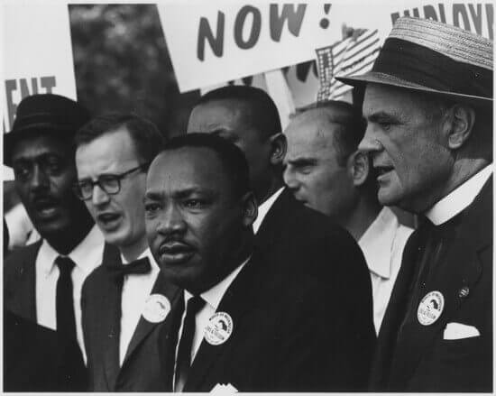 King at a Civil Rights March in Washington, D.C.