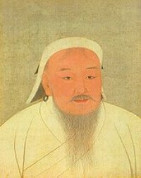 Genghis Khan, emperor of the Mongolian Empire.