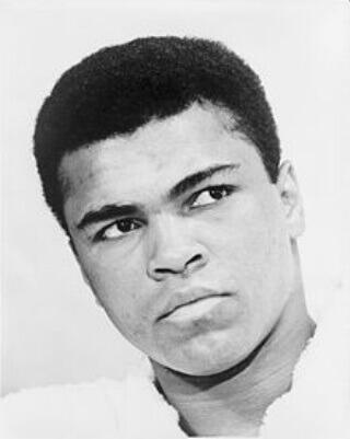 Muhammad Ali, award winning fighter.