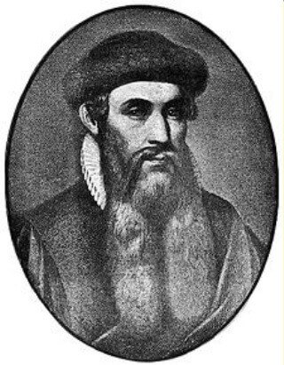 Johann Gutenberg, inventor of the moveable press.