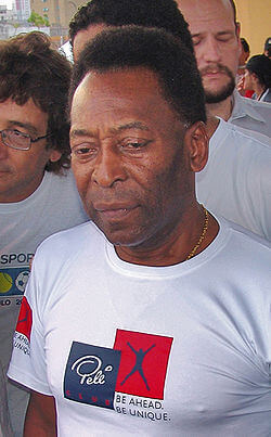 Pele, international Brazilian footballer.