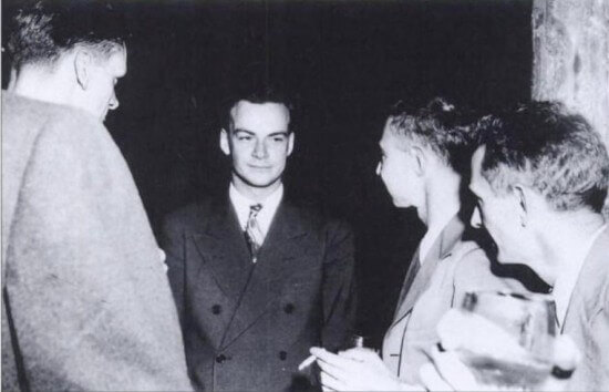 Richard Feynman and Robert Oppenheimer at Los Alamos