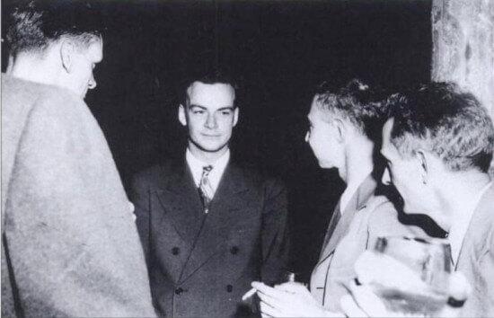 Richard Feynman and Robert Oppenheimer