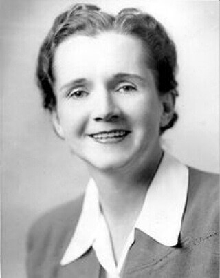 Rachel Carson, author, conservationist and environmentalist.