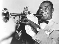 Trumpeter and jazz legend Louis Armstrong.