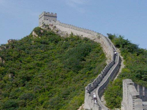 The Great Wall near Beijing. Fifth tower west of Badaling Pass, taken from fourth tower.