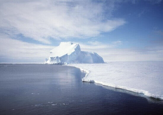 View of the Riiser-Larsen Ice Shelf in Antarctica