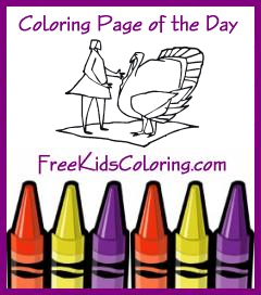 Screenshot of Coloring Page of the Day