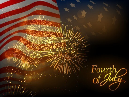 4th July, American Independence Day celebration background with