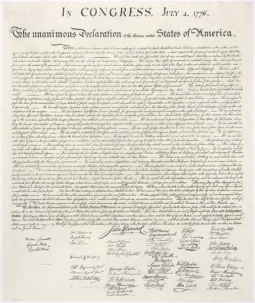 The Declaration of Independence in Modern English