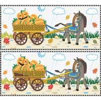 Donkey Pumpkin Cart
