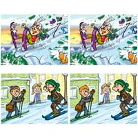 Skiing Vacation Difference