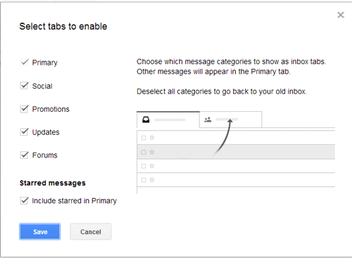 How to customize your Gmail tabs.