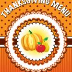 The First Thanksgiving Menu
