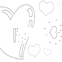 Cupid's Arrow Dot to Dot 1 – 20