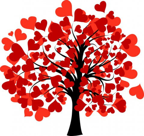 Decorated Valentine's Tree