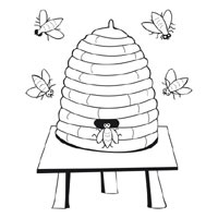 Bee » Coloring Pages » Surfnetkids