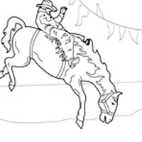 Bucking bronco coloring pages surfnetkids for Bucking bull coloring pages