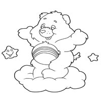 Cheer Bear Coloring Pages Surfnetkids
