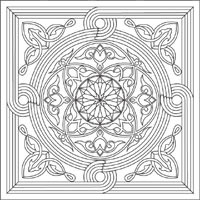 Beautiful Mandalas To Color Circles In The Square