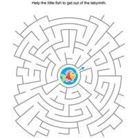 Maze Coloring Pages Surfnetkids