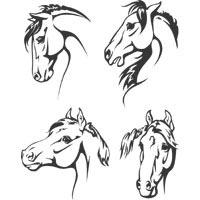 Four Horse Heads
