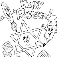 Happy Passover Coloring