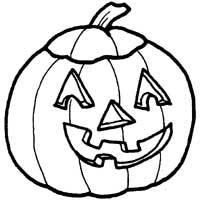 Happy Carved Pumpkin