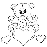 Bear on Heart Card