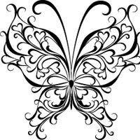 Heart butterfly coloring pages surfnetkids for Hearts and stars coloring pages