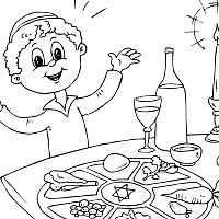 its a passover seder happy passover coloring