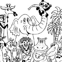 Jungle Animals Coloring Pages Surfnetkids
