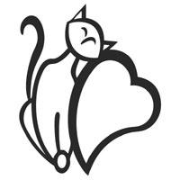 Lovely Heart Cat